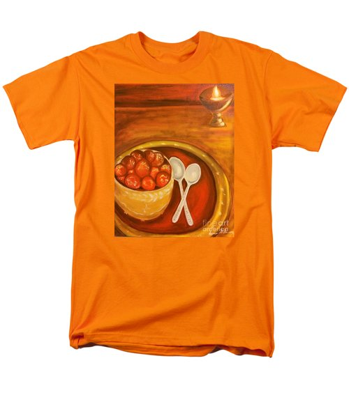 Men's T-Shirt  (Regular Fit) featuring the painting Diwali Sweets by Brindha Naveen