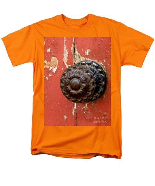 Door Knob On Red Door Men's T-Shirt  (Regular Fit) by Lainie Wrightson