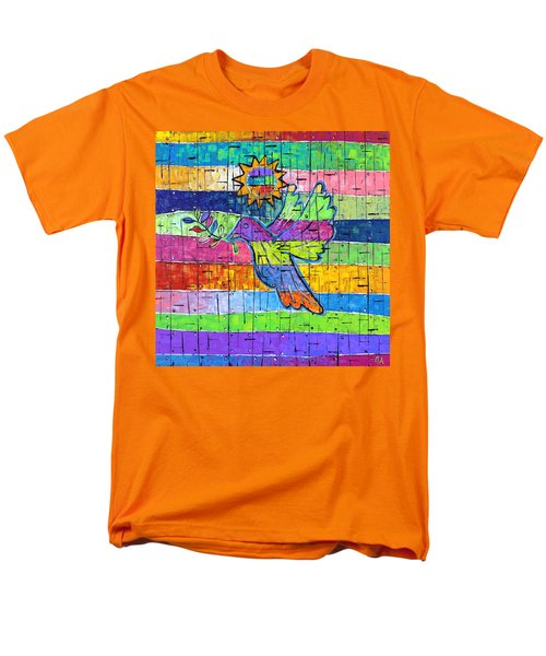 Dove Of Peace, Color And Light Men's T-Shirt  (Regular Fit) by Jeremy Aiyadurai