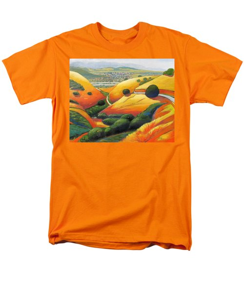 Men's T-Shirt  (Regular Fit) featuring the painting Down Metcalf Road by Gary Coleman