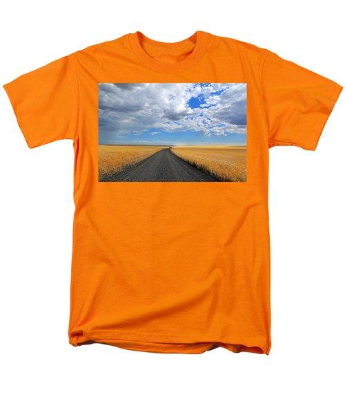 Driving Through The Wheat Fields Men's T-Shirt  (Regular Fit) by Lynn Hopwood