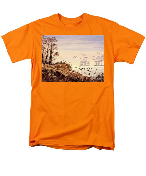 Duck Hunting Times Men's T-Shirt  (Regular Fit) by Bill Holkham