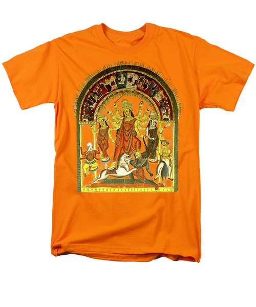 Men's T-Shirt  (Regular Fit) featuring the digital art Durga by Asok Mukhopadhyay