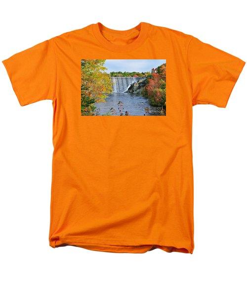 Men's T-Shirt  (Regular Fit) featuring the photograph Ellsworth, Maine Dam by Debbie Stahre