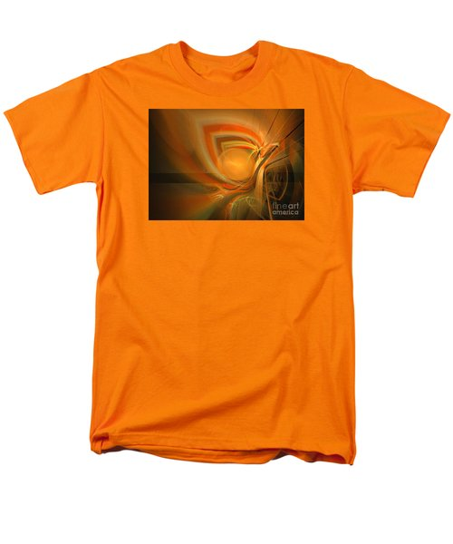 Men's T-Shirt  (Regular Fit) featuring the digital art Equilibrium - Abstract Art by Sipo Liimatainen