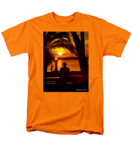 Men's T-Shirt  (Regular Fit) featuring the photograph Eustis Sunset by Christopher Holmes