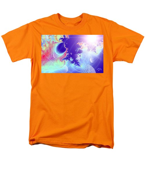 Men's T-Shirt  (Regular Fit) featuring the digital art Evolving Universe by Ute Posegga-Rudel
