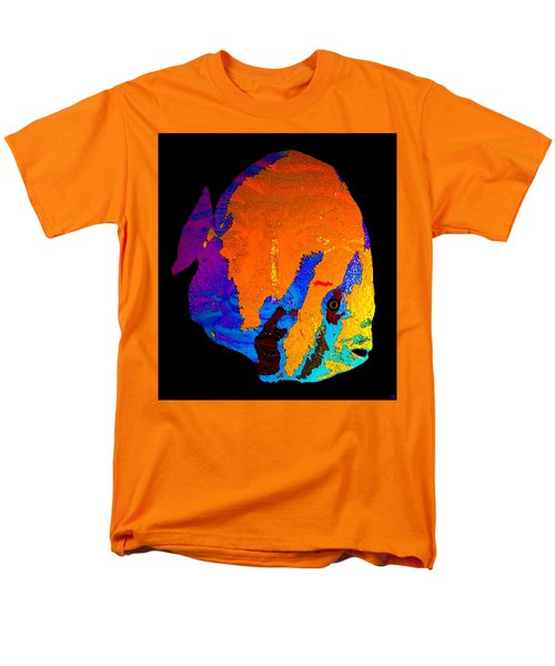 Men's T-Shirt  (Regular Fit) featuring the painting Facing The Fish by David Lee Thompson