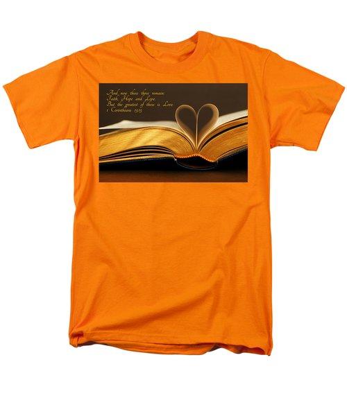 Faith. Hope. Love. Men's T-Shirt  (Regular Fit) by Iryna Goodall