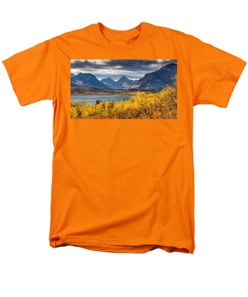 Fall Colors In Glacier National Park Men's T-Shirt  (Regular Fit) by Pierre Leclerc Photography