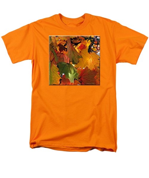 Fall Leaves Men's T-Shirt  (Regular Fit) by Mikki Cucuzzo