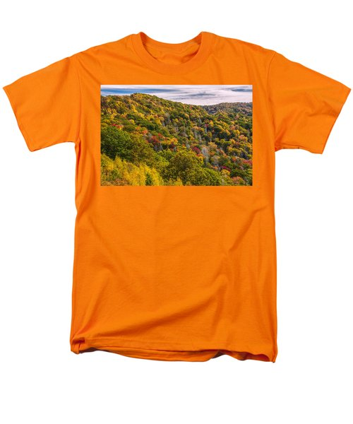 Men's T-Shirt  (Regular Fit) featuring the photograph Fall Mountain Side by Tyson Smith