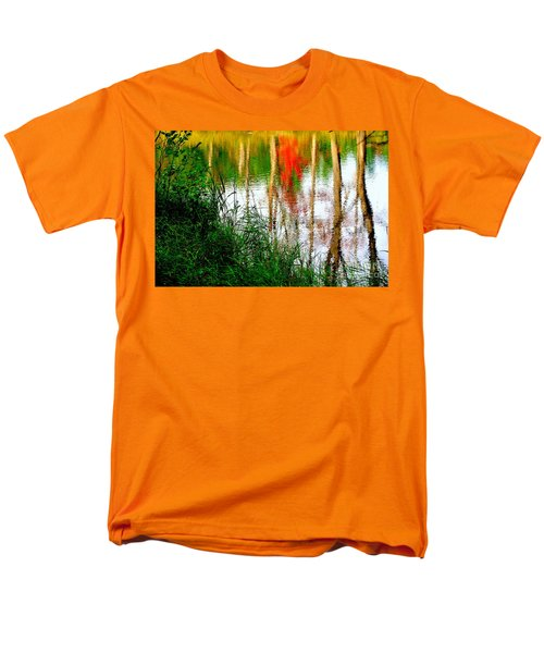 Men's T-Shirt  (Regular Fit) featuring the photograph Fall Reflections by Elfriede Fulda