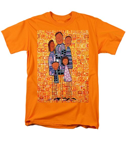 Men's T-Shirt  (Regular Fit) featuring the painting Family Portrait by Donna Howard