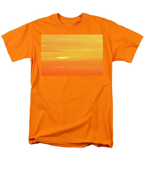 Feather Cloud In An Orange Sky  Men's T-Shirt  (Regular Fit) by Lyle Crump