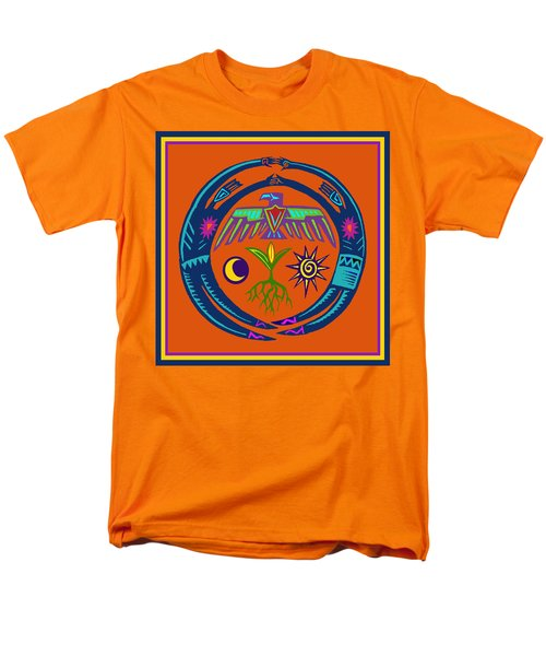 Men's T-Shirt  (Regular Fit) featuring the digital art Fertility Dance by Vagabond Folk Art - Virginia Vivier