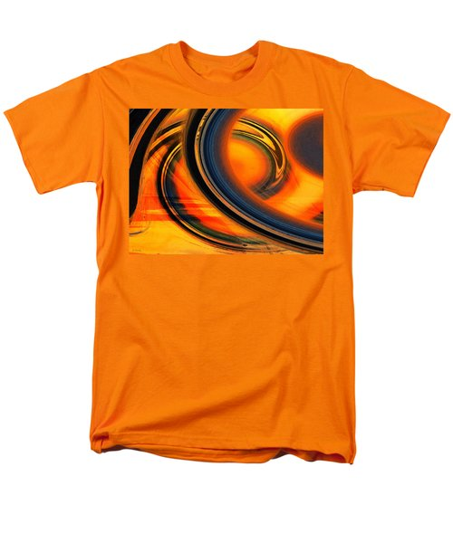 Men's T-Shirt  (Regular Fit) featuring the photograph Fiery Celestial Rings  by Shawna Rowe
