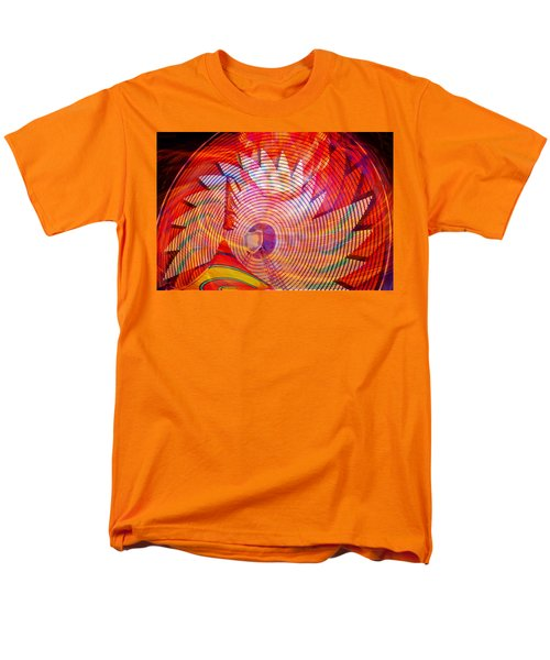 Men's T-Shirt  (Regular Fit) featuring the photograph Fiery Ferris Wheel by David Lee Thompson