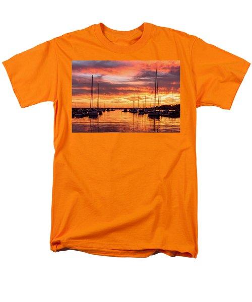 Fiery Lake Norman Sunset Men's T-Shirt  (Regular Fit) by Serge Skiba