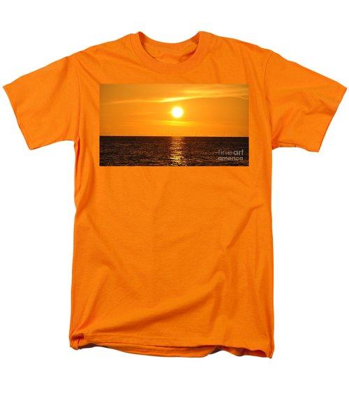 Men's T-Shirt  (Regular Fit) featuring the photograph Fiery Sunset by John Black