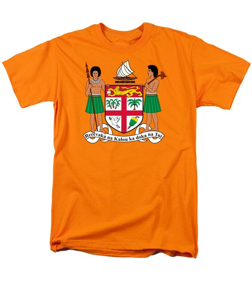 Fiji Coat Of Arms Men's T-Shirt  (Regular Fit) by Movie Poster Prints