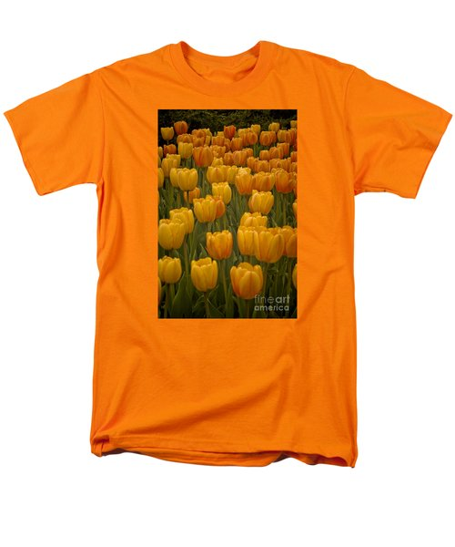 Men's T-Shirt  (Regular Fit) featuring the photograph Fine Lines In Yellow Tulips by Michael Flood