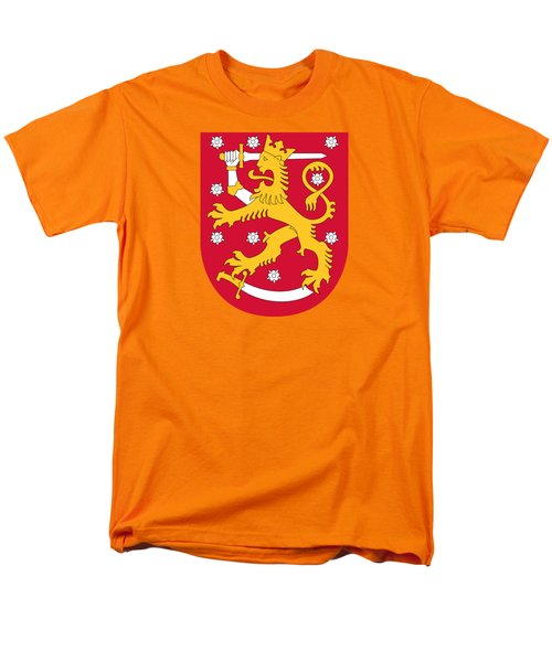 Finland Coat Of Arms Men's T-Shirt  (Regular Fit) by Movie Poster Prints