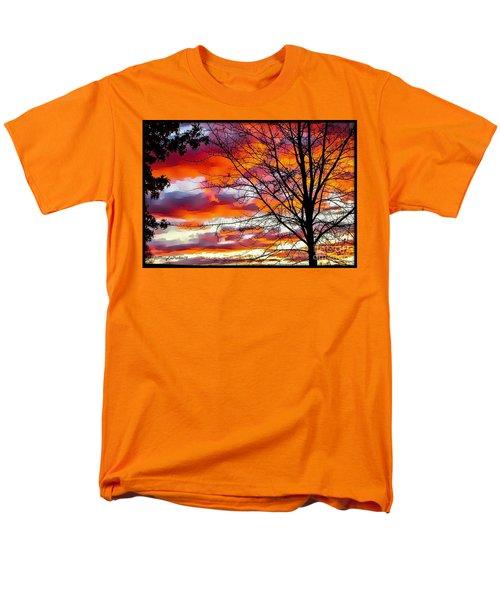 Fire Inthe Sky Men's T-Shirt  (Regular Fit) by MaryLee Parker