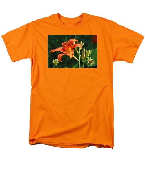 First Flower On This Lily Plant Men's T-Shirt  (Regular Fit) by Steve Augustin