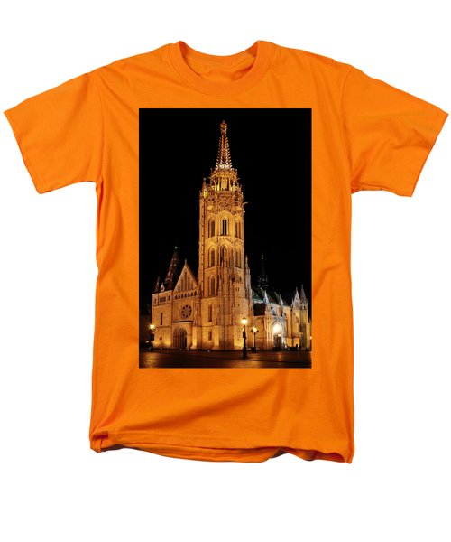 Men's T-Shirt  (Regular Fit) featuring the digital art  Fishermans Bastion - Budapest by Pat Speirs