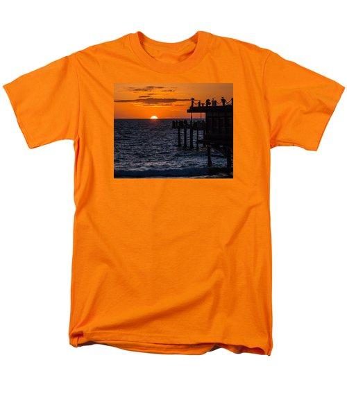 Fishing At Twilight Men's T-Shirt  (Regular Fit) by Ed Clark