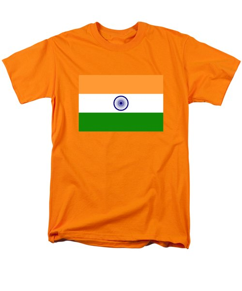 Flag Of India Authentic Version Men's T-Shirt  (Regular Fit) by Bruce Stanfield