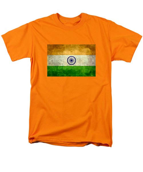 Flag Of India Retro Vintage Version Men's T-Shirt  (Regular Fit) by Bruce Stanfield