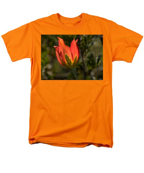 Men's T-Shirt  (Regular Fit) featuring the photograph Flaming Beauyy by Uri Baruch