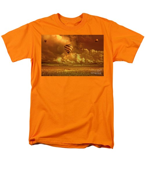 Men's T-Shirt  (Regular Fit) featuring the photograph Flaming Sky by Charuhas Images