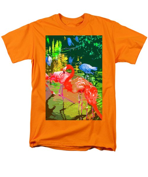 Flamingo Time Men's T-Shirt  (Regular Fit) by Josy Cue