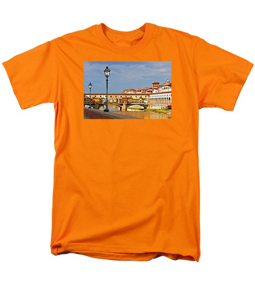 Florence Arno River View Men's T-Shirt  (Regular Fit) by Dennis Cox WorldViews