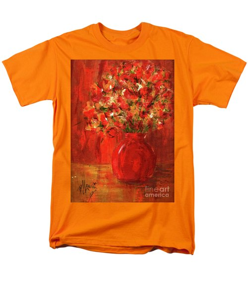 Men's T-Shirt  (Regular Fit) featuring the painting Florists Red by P J Lewis