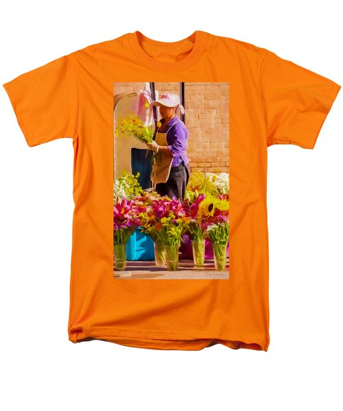 Men's T-Shirt  (Regular Fit) featuring the photograph Flower Lady by Trey Foerster