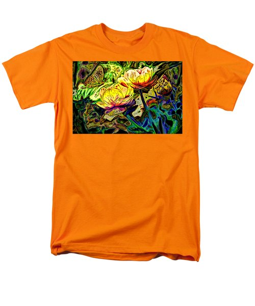 Flowers And Butterfly Men's T-Shirt  (Regular Fit) by Carol Crisafi