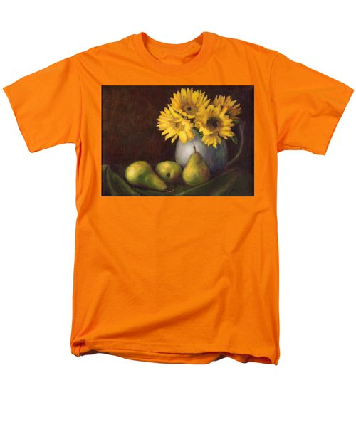 Men's T-Shirt  (Regular Fit) featuring the painting Flowers And Fruit by Janet King