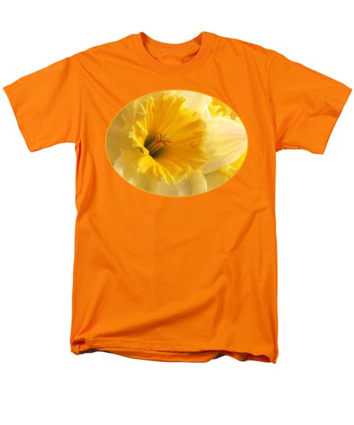 Focus On Spring - Daffodil Close Up Men's T-Shirt  (Regular Fit) by Gill Billington