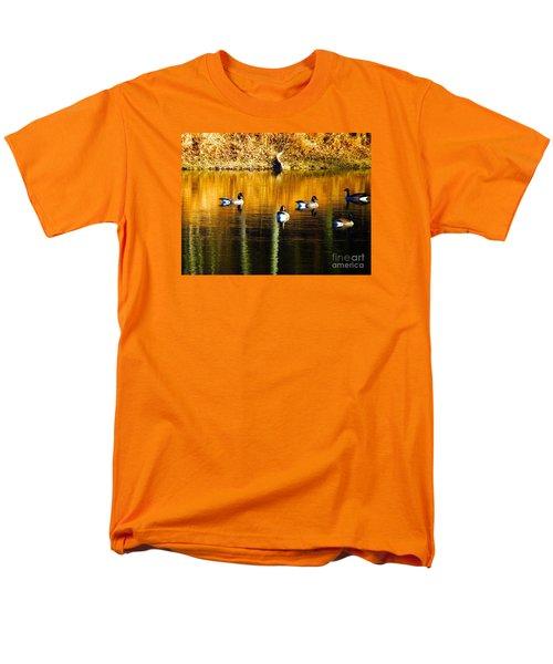 Geese On Lake Men's T-Shirt  (Regular Fit) by Craig Walters