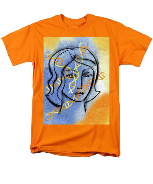 Men's T-Shirt  (Regular Fit) featuring the painting Genetics by Leon Zernitsky
