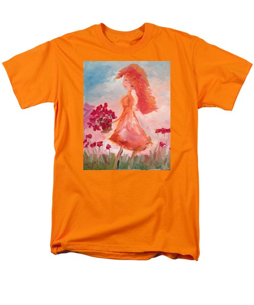 Girl With Poppies Men's T-Shirt  (Regular Fit) by Roxy Rich