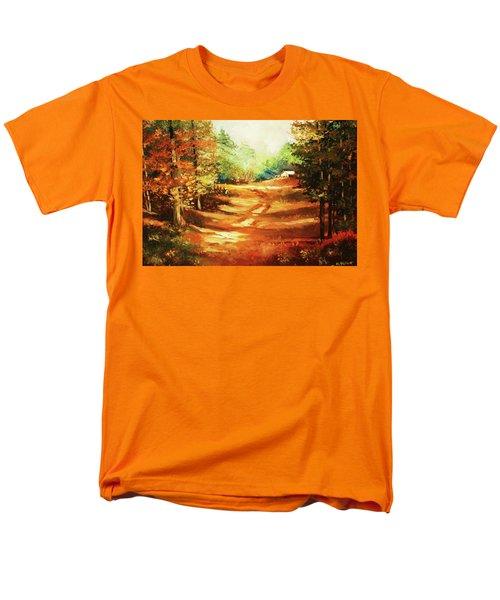 Glory Road In Autumn Men's T-Shirt  (Regular Fit) by Al Brown
