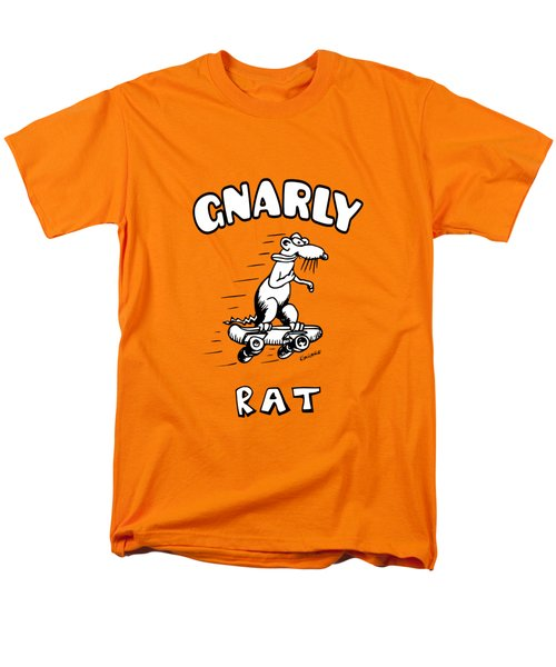 Men's T-Shirt  (Regular Fit) featuring the drawing Gnarly Rat by Kim Gauge