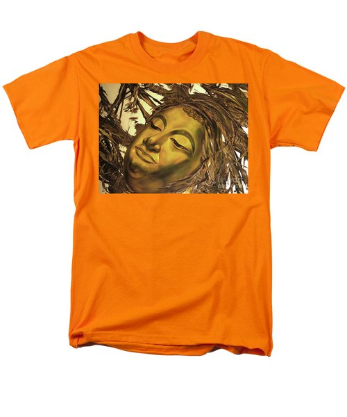 Men's T-Shirt  (Regular Fit) featuring the painting Gold Buddha Head by Chonkhet Phanwichien