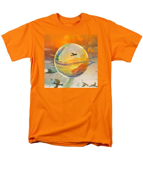 Men's T-Shirt  (Regular Fit) featuring the painting Golden Age Of Flight by Robin Moline