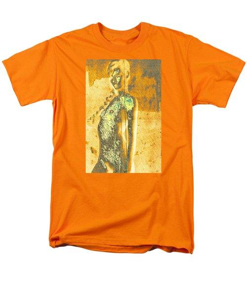 Men's T-Shirt  (Regular Fit) featuring the digital art Golden Graffiti by Andrea Barbieri